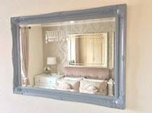LG Grey Decorative Ornate Mirror - 36inch x 26inch - *FREE POSTAGE* STUNNING